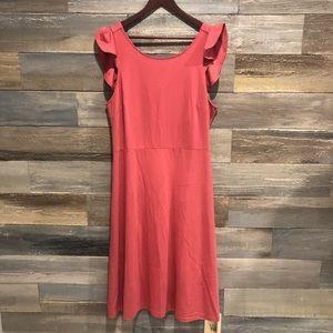 GAP NWT mauve open back cotton dress 18